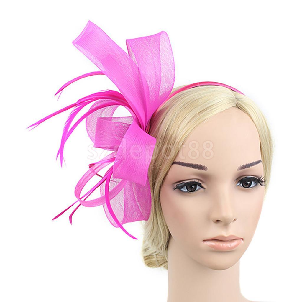Mujer de la vendimia 1920 s Gatsby partido Plumas Hairband tocado ...