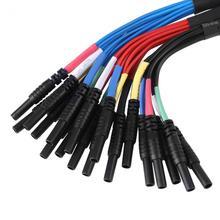Hantek 6-канальный Универсальный коммутационная измерительные провода/Автомобильный многофункциональный привести HT306 для авто диагностический Oscilliscope 2,8 мм черный