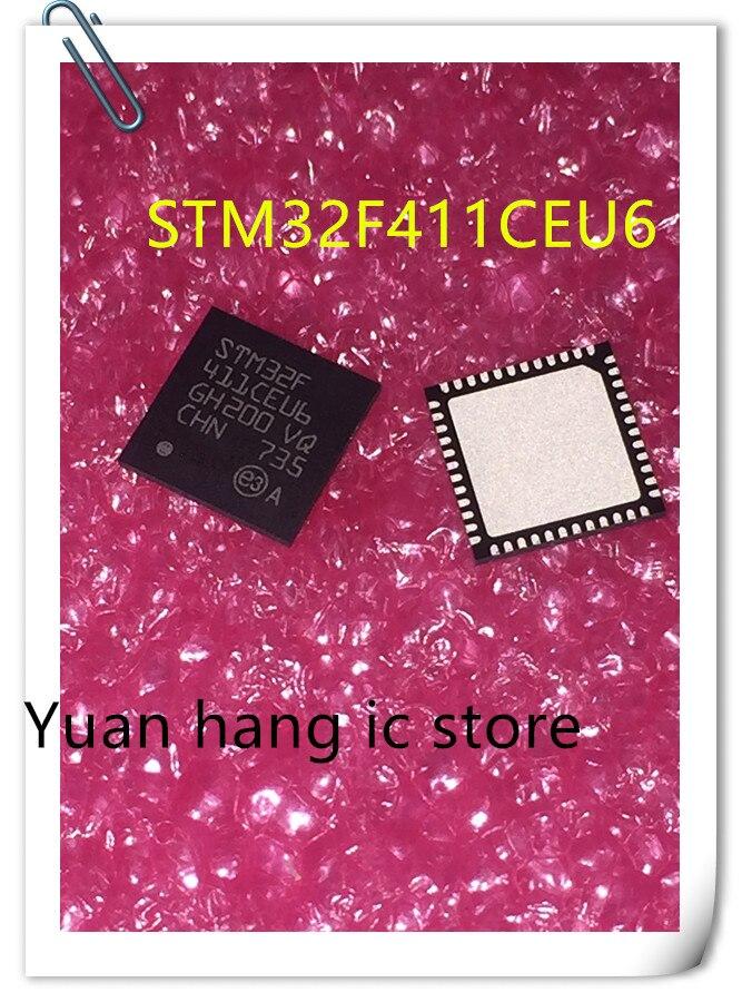 5PCS/LOT NEW STM32F411CEU6  STM32F 411CEU6 STM32F411 QFN IC
