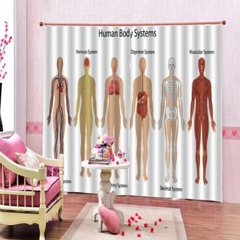 Customize Creative 3D Curtains Used for hospital Window decoration curtains фото