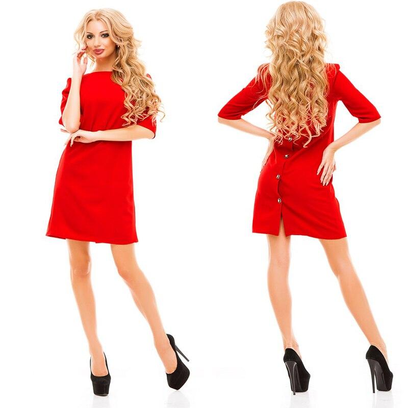 2016 осень новая мода женская оболочка платье вскользь о-образным вырезом половина рукавами назад ряд кнопок платье bodycon vestidos партии платья