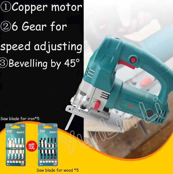 Woodworking Jig Saw 500W 220V Handheld Cutting Machine Multi function Small Electric Wood Cutter Household Pull Flower Curve Saw in Saw Machinery from Tools