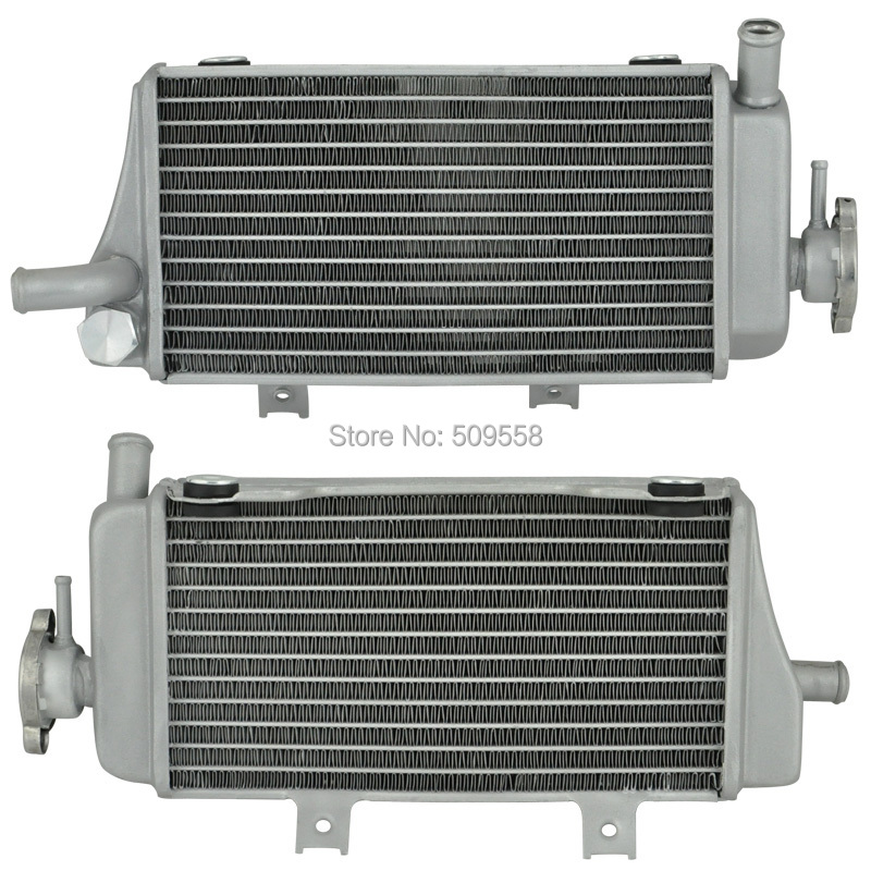 LOPOR Motorcycle Parts Aluminium Cooling Radiator For Honda CRF450X 2005 2006 2007 2008 2009 2010 CRF450