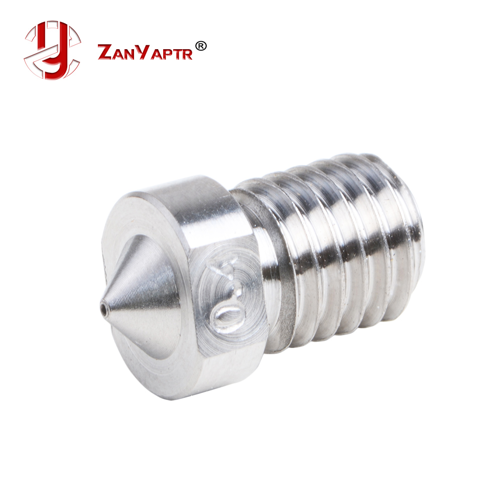 3D Printer E3D Titanium Alloy TC4 Nozzle J-Head  Extruder 0.3/0.4/0.6/0.8/1.0/1.2/1.5mm For 1.75mm Supplies For 3D V6 & V5