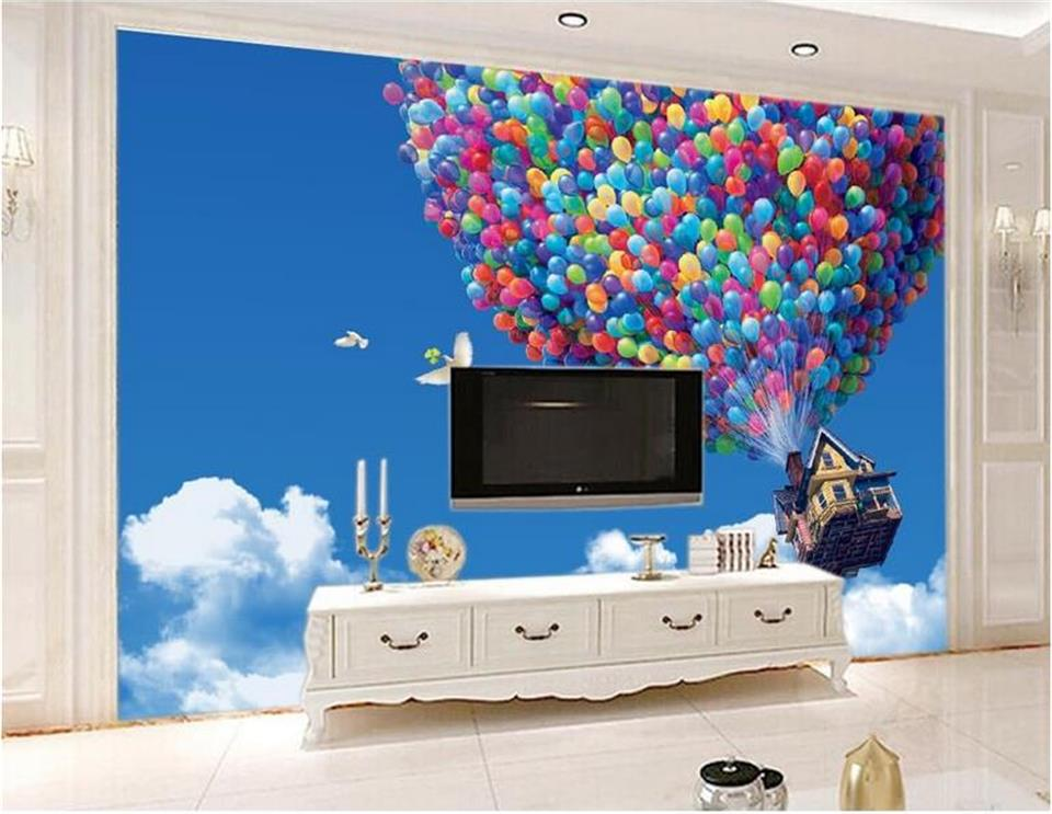 3d room wallpaper custom murals non-woven wall paper sticker Hot air balloon sky painting 3d wall photo wallpaper for wall 3d free shipping borges suspended large scale non woven paper art wallpaper murals custom size