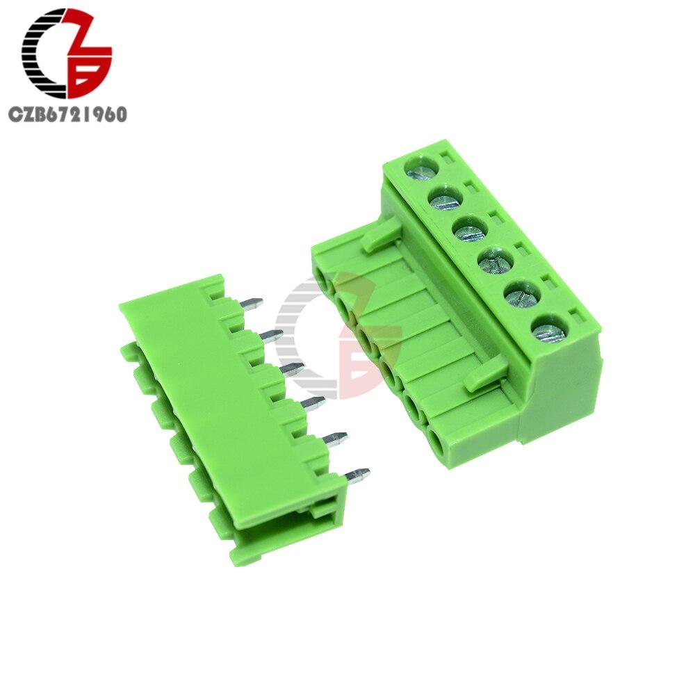 50 Stücke Terminal Stecker 5,08MM Pitch KF2EDGK KF-2P Rechtwinklig Plug-In zu