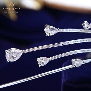 Image 5 - High end shinny irregular zircon cristal noivas tiara coroas tira de cabelo nupcial faixas de cabelo acessórios para o cabelo do casamento