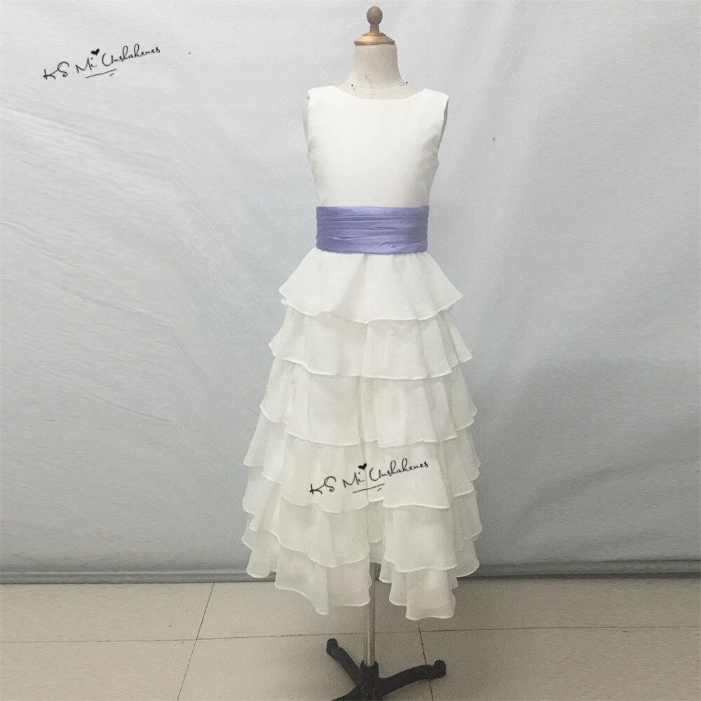 200e581287d5ca ᑐPas cher Lavande Blanc Fleur Fille Robes pour Mariages En ...