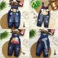 Primavera Outono crianças em geral roupas jeans recém-nascidos macacão jeans bebê bebe macacões para a criança infantil meninos meninas bib calças 0-2A