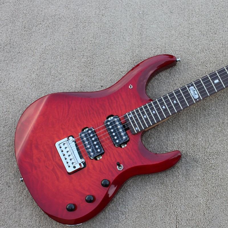 buy wholesale jp6 electric guitars china costom shop red top solid body black. Black Bedroom Furniture Sets. Home Design Ideas