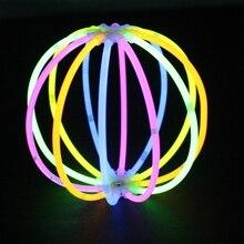 лучшая цена 50Pcs Glow Sticks Fluorescence Light Sticks Necklace Glow in the Dark Bracelets for Event Party Festival Supplies Concert Decor