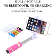 New Extendable Mobile Phone Wired Self Selfie Sticks Portable Monopod Self Artifact Handheld Support For iPhone Android