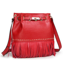 Genuine leather Women messenger bag 4 colors tassel Shoulder bag Women cross body Tote Bags Female bolsa feminina bolsas