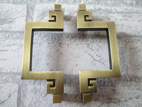 3.75 5 Dresser  Drawer Pull Handles Antique Bronze / Kitchen Cabinet Handles Pulls Door Handle / Vintage Furniture Hardware 4 25 dresser pulls drawer pull handles antique bronze bail cabinet pulls handle knobs furniture door hardware drop swing 108mm