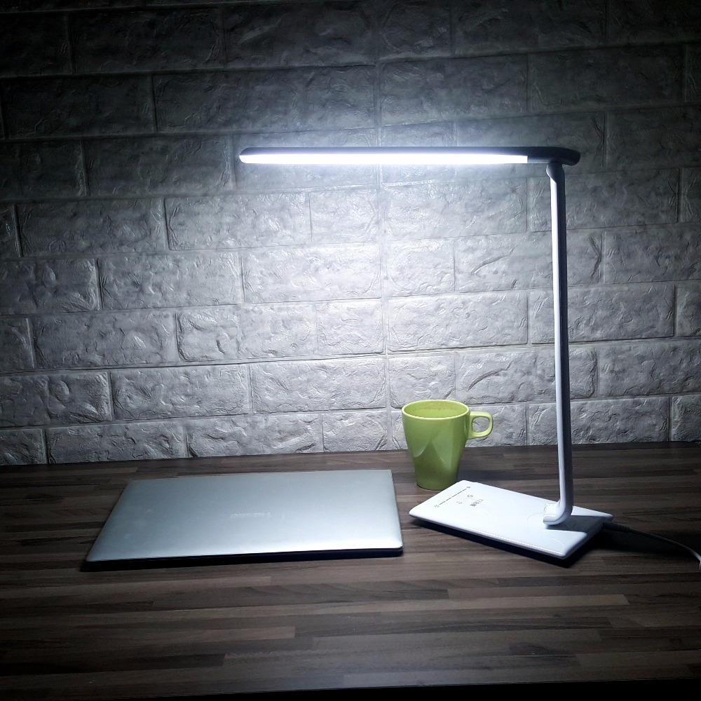 New Folding Led Reading Desk Table Lamp Touch Color Adjustable Portable Bright 7W LED Mini Reading Book Light IY309021
