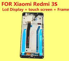 FOR Original Xiaomi Redmi 3s Lcd Display + digitizer touch screen Assembly +Frame+ Tools For Xiaomi Hongmi 3s  Give silicon case
