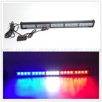 CYAN SOIL BAY 20 LED Emergency Warning Light Bar Traffic Advisor Strobe Flash Lamp Red Blue