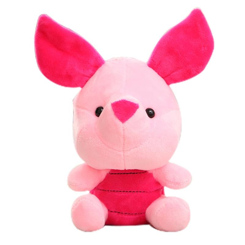 Дисней мягкие животные Плюшевые Микки Маус Минни Винни Пух Кукла Лило и чехол для телефона поросенок Стич брелок Подарочный на день рождение малыш девочка игрушка - Цвет: Pig