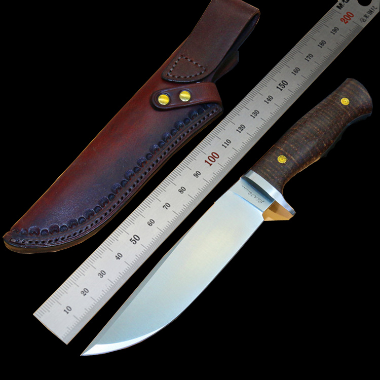 LW (the) small Boyd python D2 steel straight knife pure manual carve patterns or designs on woodwork leather sheath For survival straight talk on worry