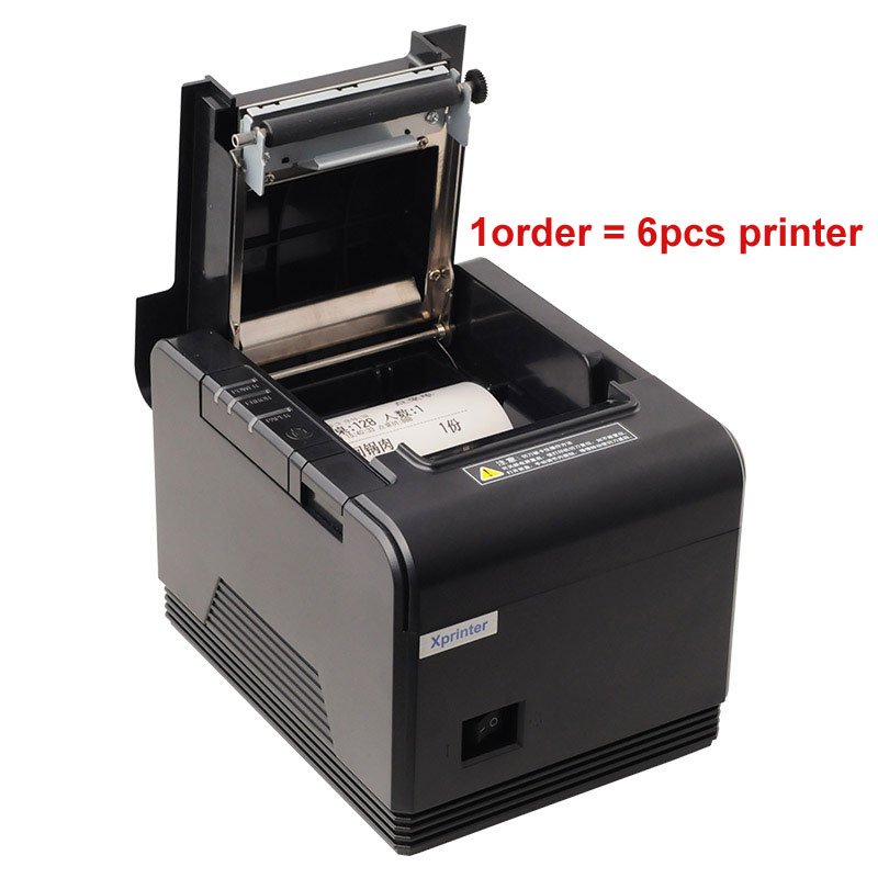 6 pièces imprimante 80mm haute qualité autocutter Pos imprimante thermique reçu imprimante imprimantes de cuisine avec USB/parallèle/série/LAN