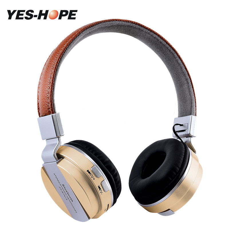 YES-HOPE Bluetooth stereo headphones wireless headphones Bluetooth 4.1 headset on-Ear headphones