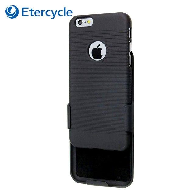 ea6436b1b8e Para el iPhone 6 Plus cinturón clip de la caja negro Armaduras funda Combo  protector cubierta