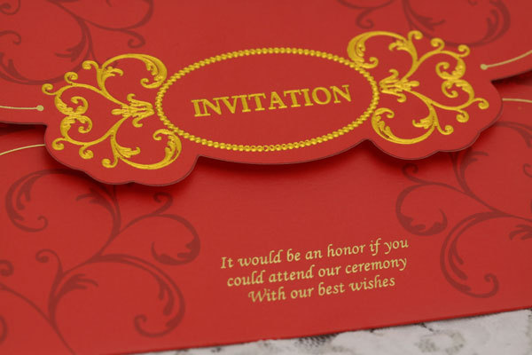 Classic Chinese Wedding Invitations Set Of 50 Printable And Customizable Birthday Invitation Greeting Card In Festive Party Supplies