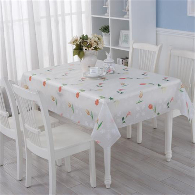 PVC Tablecloth Waterproof Oilproof Non Washable Table Cloth Rectangular  Plastic Pad Anti Hot Coffee Table Cover
