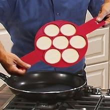 Антипригарная блинница для приготовления яиц, силиконовая кухонная форма для блинов, инструмент для приготовления яиц с 7 отверстиями, форма для яиц, кухонные аксессуары для выпечки