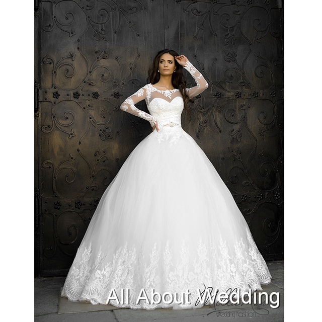 Aliexpress.com : Buy Lebanon Design Long Sleeve Ball Gown Wedding ...