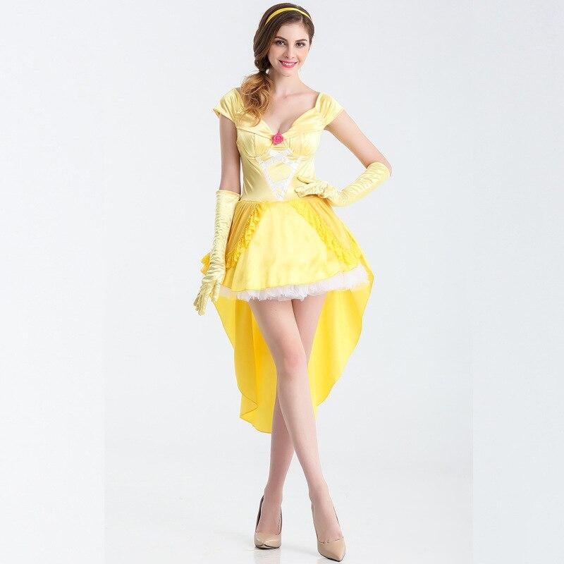 Carnival Halloween Costume for Women Belle Princess Costume Dress Fancy Adult Cosplay Clothing индийский костюм для танцев девочек
