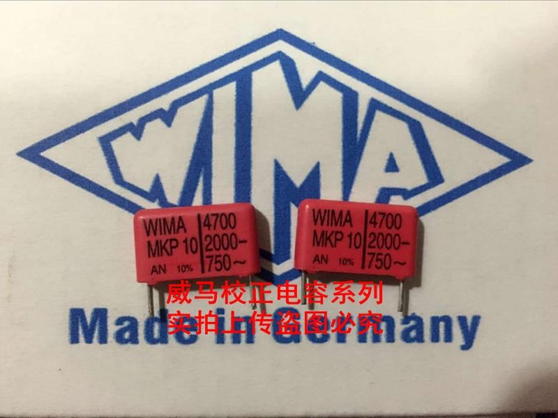 2018 hot sale 20PCS/50PCS Germany WIMA MKP10 2000V 4700PF 2000V/2KV 472 P: 15mm Audio capacitor free shipping