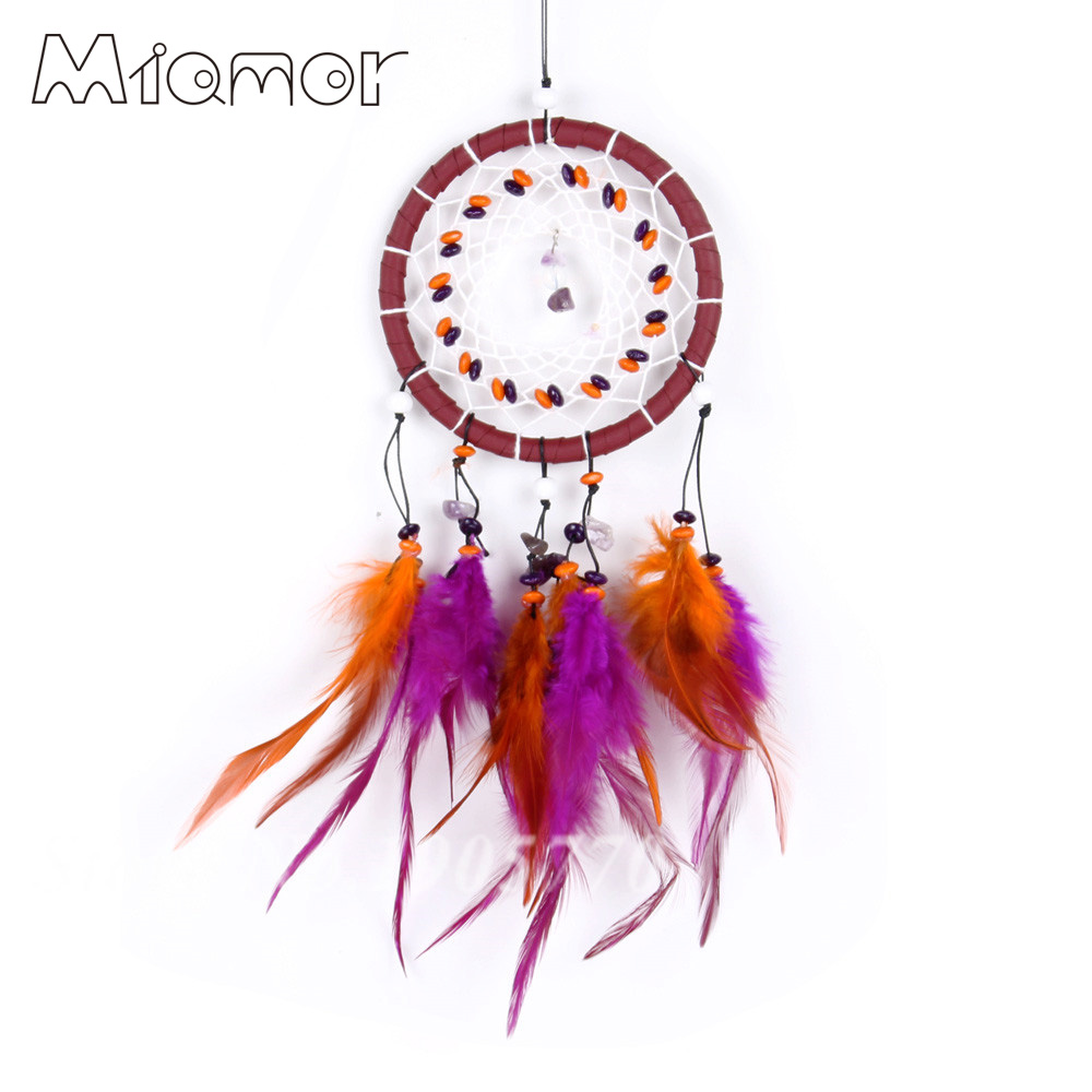 Antique Imitation Enchanted Forest Dreamcatcher Gift Dream Catcher Net With Feathers Wall Hanging Decoration Ornament Amor073