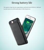 WOPOW 3650mAh/2500mAh Back Clip Battery Power Case For iphone 6 6p 7 7p External Battery Charger Case Backup Cover With magnetic