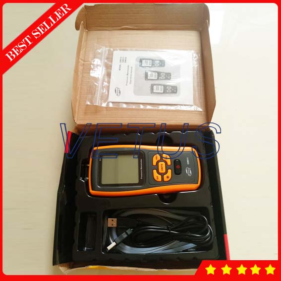 GM511 Dual mode Digital Manometer with Air Pressure Meter Tester USB communication Temperature Compensation Function portable lcd digital manometer pressure gauge ht 1895 psi air pressure meter protective bag manometro pressure meter