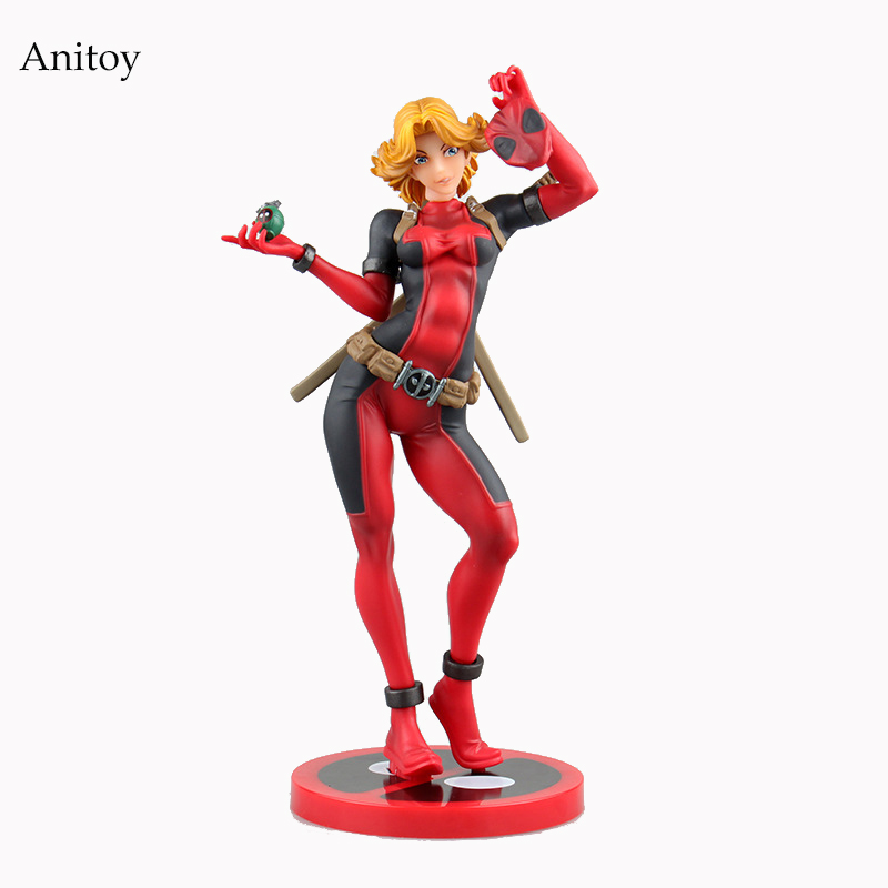 Lady Deadpool Bishoujo Statue Lady Deadpool Doll PVC Action Figure Collectible Model Toy 23.5cm KT2650 deadpool action figure revoltech 160mm series no 001 anime deadpool collectible model doll toy