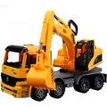 1:22 Super gran Caja de Regalo modelo de camión pesado excavadora inercia ingeniería camión modelo de camión de plástico juguetes para los niños chicos escala