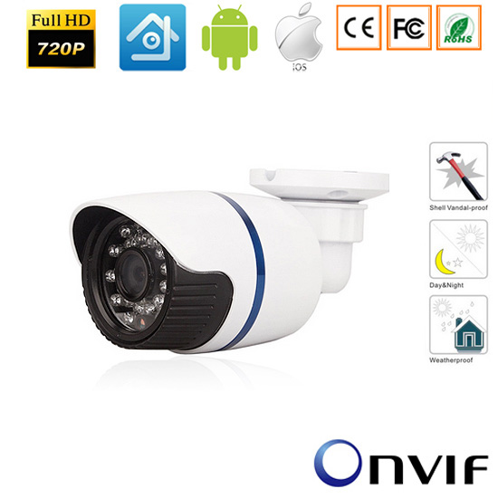 CCTV 720P/960P/1080p IP camera Securiy HD 1.0 /1.3./2.0 Mega pixel Outdoor Waterproof Network IP IR Camera P2P,ONVIF H.264. ahwvse poe mini ip camera 720p 960p security hd network cctv camera mega pixel indoor network ip cam onvif h 264 free shipping