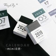2019 2020 Cute half a year Calendars Mini Desk Calendar Office Work Learning Schedule Periodic Planner Stationery