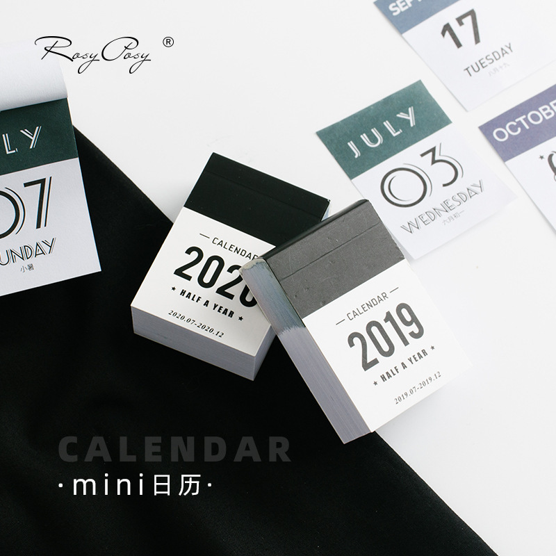 2019 2020 Cute Half A Year Calendars Mini Desk Calendar Office Work Learning Schedule Periodic Planner Stationery