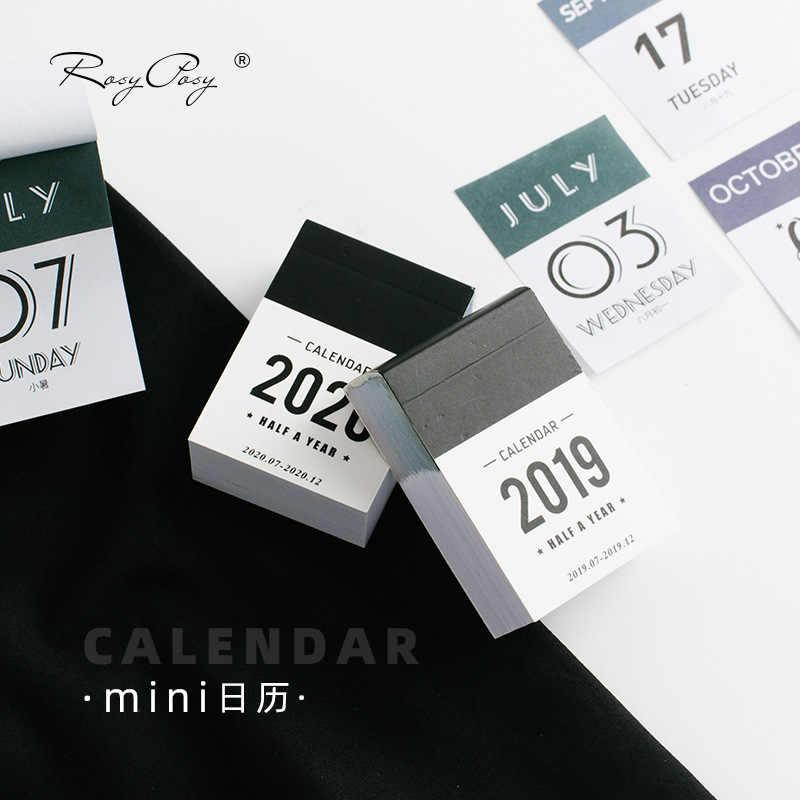 2019 2020 Lucu Setengah Tahun Kalender Mini Kalender Meja Kerja Kantor Belajar Jadwal Periodik Planner Alat Tulis