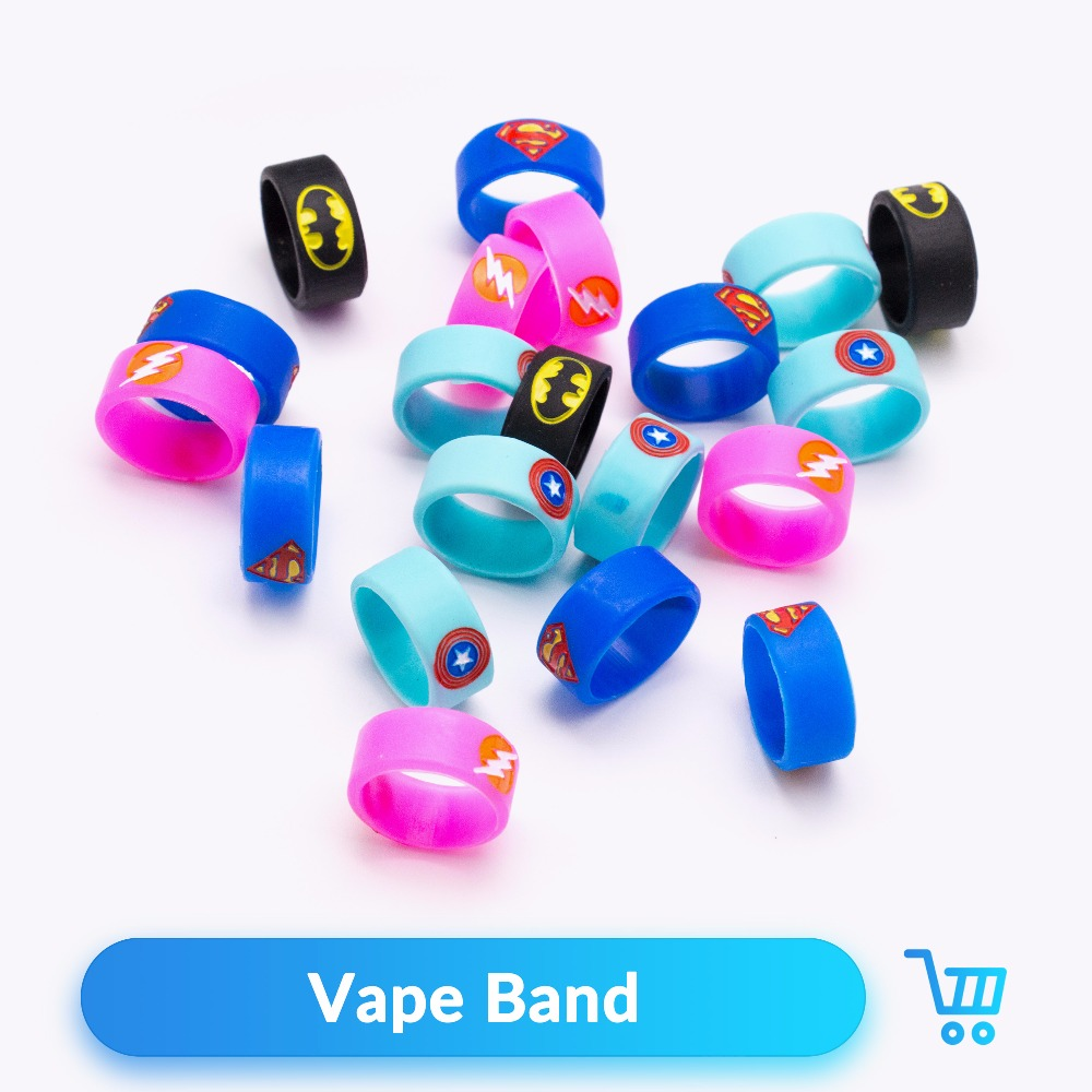 Volcanee 10pcs/lot 22mm Vape Band Silicon Decorative Ring Fo V8 Baby RDTA Tank Vape Atomizer Box Mod E Cigarettes Accessories
