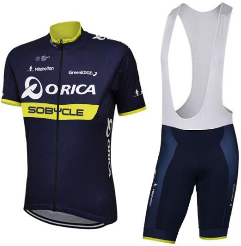 2018 team Orica Cycling Clothing Bike jersey Quick Dry Mens Bicycle clothes short sleeves sobycle pro Cycling Jersey bike shorts