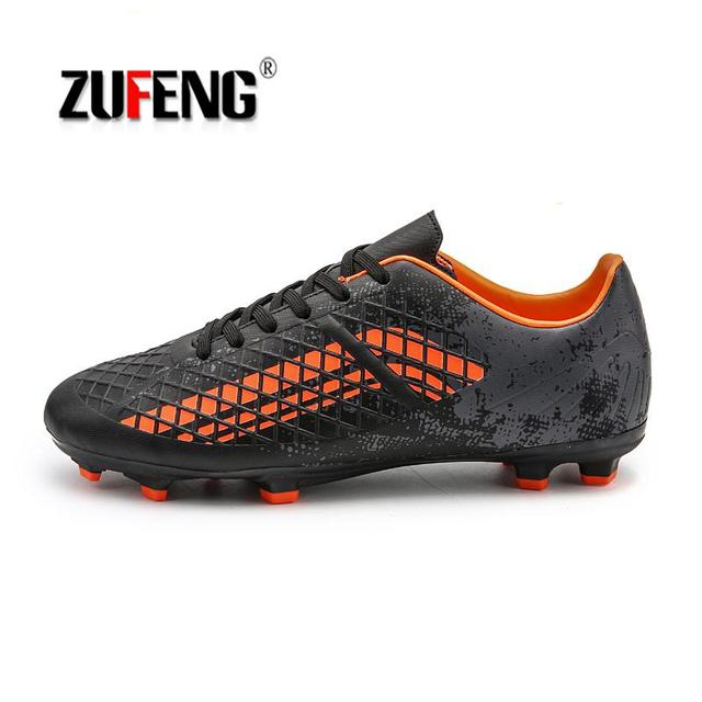 9a0aa3fe1 ZUFENG Brand Professional Soccer Football Shoes Men Women Outdoor AG Soccer  Cleats Athletic Trainers Sneakers Adults Boots