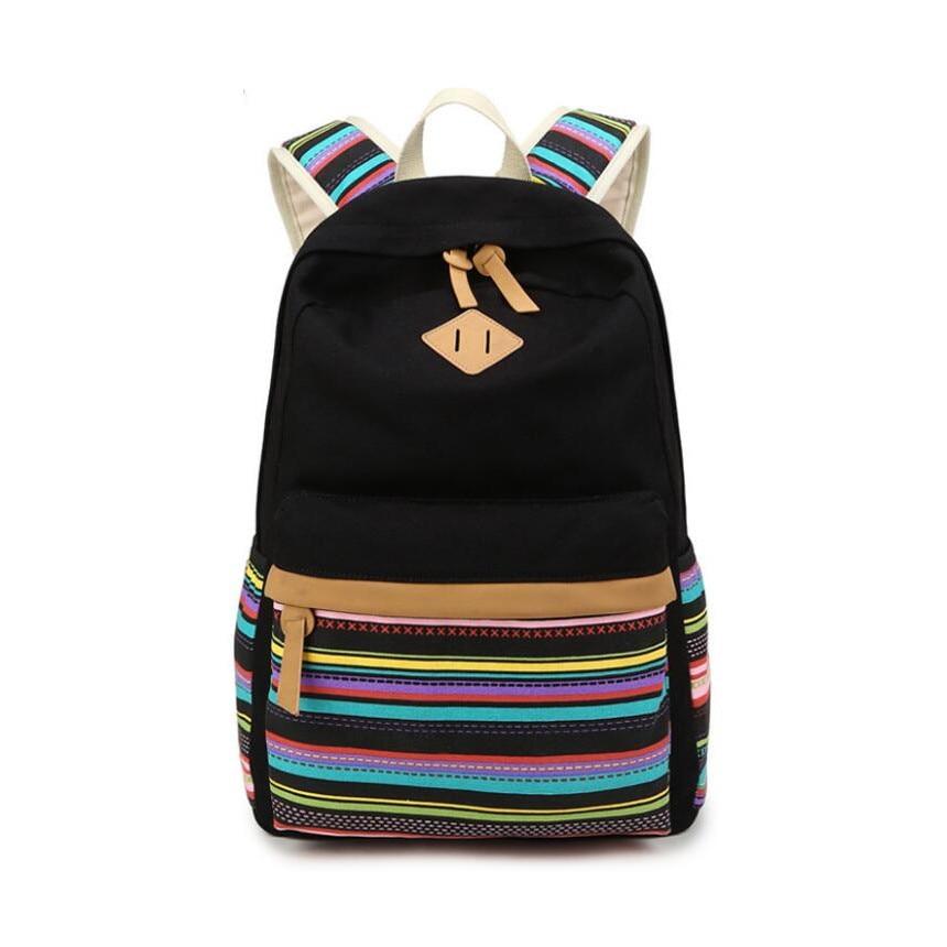 dcf9cb2e3d78 school backpack for teenage girl ethnic stripe canvas schoolbag backpack  student vintage book bag school bags for girls backbag - aliexpress.com -  imall.com