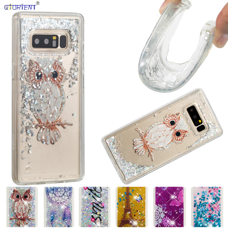 Quicksand Case for <font><b>Samsung</b></font> <font><b>Galaxy</b></font> <font><b>Note</b></font> <font><b>8</b></font> N9500 N950F Case Phone Silicone Cover SM-N9508 SM-N9500 SM-N950F SM-N950FD <font><b>N950N</b></font> N950U image
