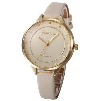 2019 Lady Woman Wrist Watches Women Casual Checkers Faux Leather Quartz Analog Wrist Watch Women Clock reloj mujer Elegant Наручные часы