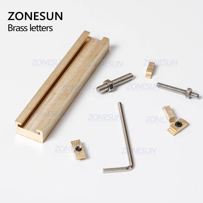 ZONESUN 184 PCS Alphabet Letter Set With Number Symbols 10cm T slot Letter Stamp For Hot Foil Stamping Machine Custom Logo Name - 4