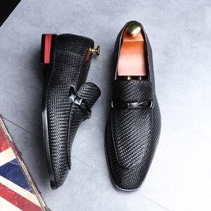 Image 5 - Formale schuhe männer Leder Frühling Herbst Oxford Faulenzer Atmungs Wohnungen Männer Sapatos Masculino Bequeme Schuhe zapatos de hombre