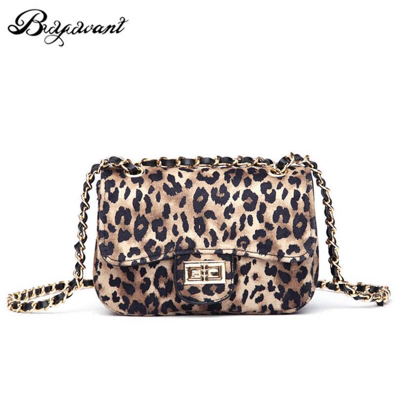 d7b86b6a0fc3 Buyuwant Leopard small bag female 2018 new plush shoulder bag small square  bag chain wild Messenger